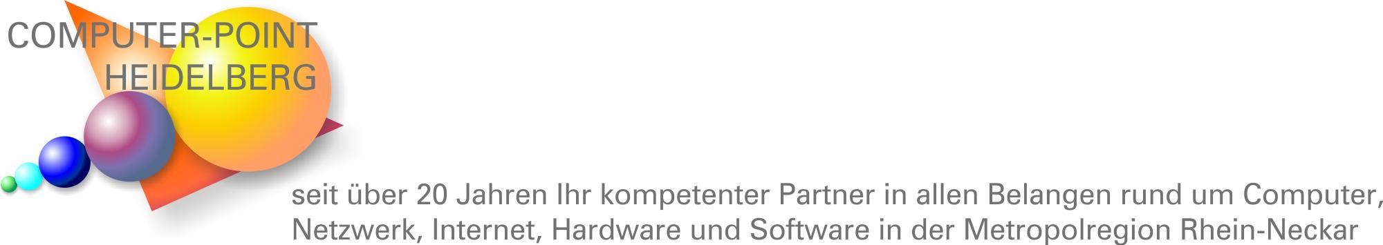 COMPUTER-POINT HEIDELBERG seit über 20 Jahren Ihr kompetenter Partner in allen Belangen rund um Computer, Netzwerk, Internet, Hardware und Software in der Metropolregion Rhein-Neckar